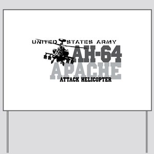 Army Apache Helicopter Yard Sign