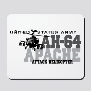 Army Apache Helicopter Mousepad