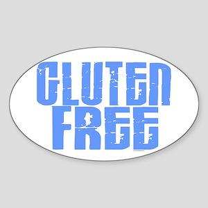 Gluten Free 1.2 (Sky) Oval Sticker