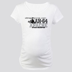 Army Apache Helicopter Maternity T-Shirt