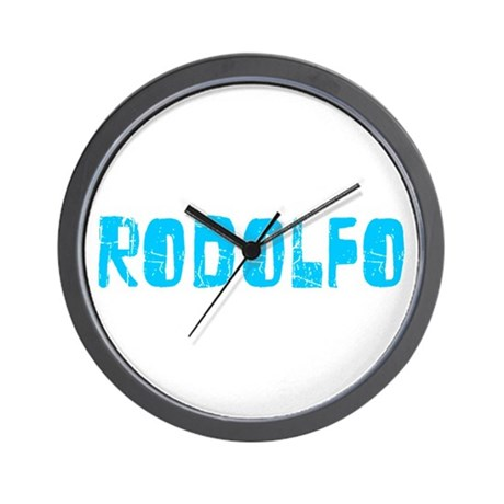 Rodolfo Faded (Blue) Wall Clock