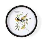 Audubon Western Tanager Birds Wall Clock