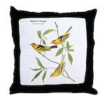 Audubon Western Tanager Birds Throw Pillow