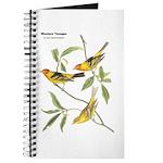 Audubon Western Tanager Birds Journal