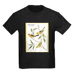 Audubon Western Tanager Birds (Front) Kids Dark T-