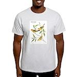 Audubon Western Tanager Birds (Front) Light T-Shir