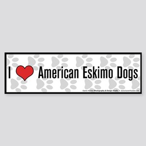 I (heart) American Eskimo Dogs Bumper Sticker