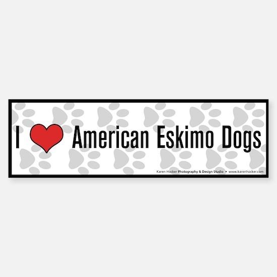 I (heart) American Eskimo Dogs Bumper Bumper Bumper Sticker