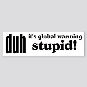 Duh, IT'S GLOBAL WARMING STUPID! Bumper Sticker