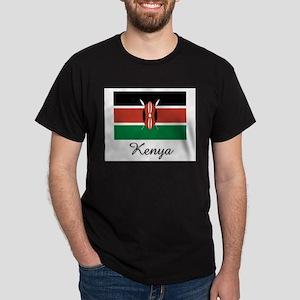 Kenya Flag Dark T-Shirt