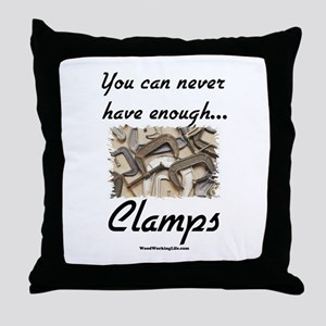 Clamps Design #2 Throw Pillow