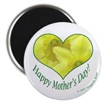 Daffodils in Heart, Mother's Day Magnet