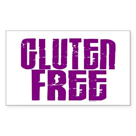 Gluten Free 1.5 (Grape) Rectangle Sticker