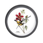 Audubon Troupial Birds Wall Clock