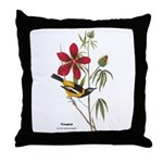 Audubon Troupial Birds Throw Pillow