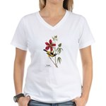 Audubon Troupial Birds (Front) Women's V-Neck T-Sh