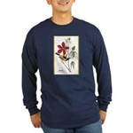 Audubon Troupial Birds (Front) Long Sleeve Dark T-