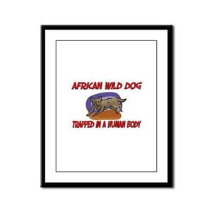 African Wild Dog trapped in a human body Framed Pa