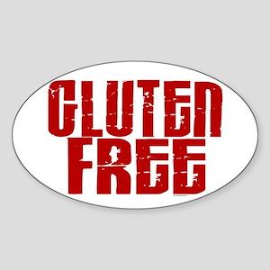 Gluten Free 1.8 (Cinnamon) Oval Sticker