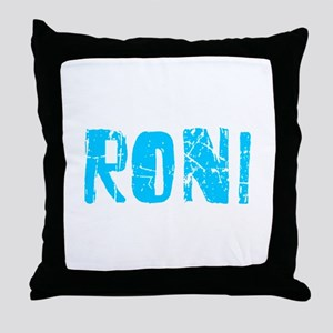 Roni Faded (Blue) Throw Pillow