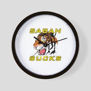 Saban Sucks Wall Clock
