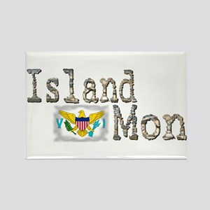 Island Mon - Rectangle Magnet