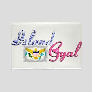 USVI Island Gyal - Rectangle Magnet