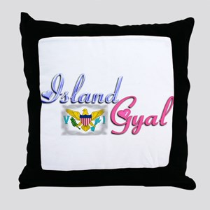 USVI Island Gyal - Throw Pillow