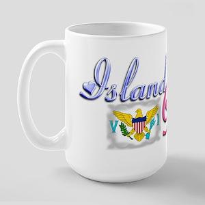 USVI Island Gyal - Large Mug