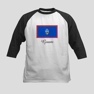 Guam Flag Kids Baseball Jersey
