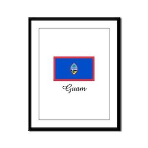 Guam Flag Framed Panel Print