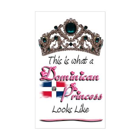 Dominican Princess - Rectangle Sticker