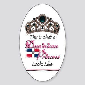 Dominican Princess - Oval Sticker