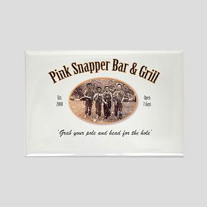 Pink Snapper Bar & Grill Rectangle Magnet