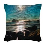 Ocean Coast Mystical Passage Woven Throw Pillow