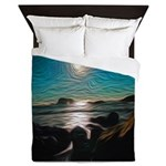 Ocean Coast Mystical Passage Queen Duvet