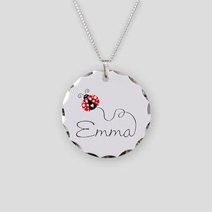 Ladybug Emma Necklace Circle Charm