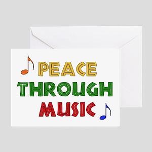 Peace Through Music Greeting Card
