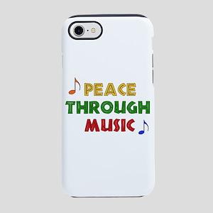 Peace Through Music iPhone 8/7 Tough Case