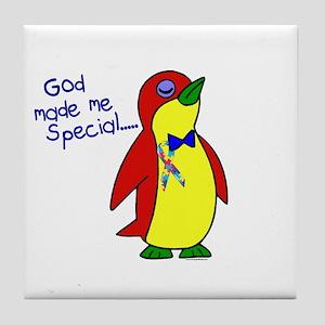 God Made Me Special 1.1 (Autism) Tile Coaster
