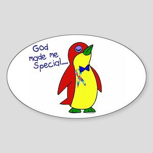 God Made Me Special 1.1 (Autism) Oval Sticker
