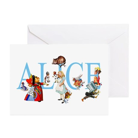 ALICE IN WONDERLAND & FRIENDS Greeting Cards (Pk o