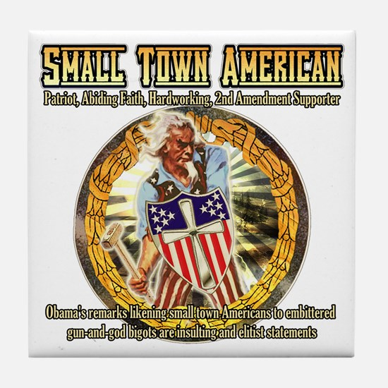 SMALL TOWN AMERICAN PRIDE GIFTS Tile Coaster