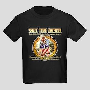SMALL TOWN AMERICAN PRIDE GIFTS Kids Dark T-Shirt