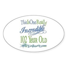 Incredible 102nd Oval Sticker