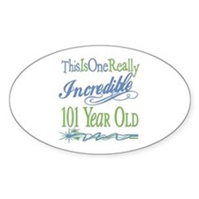 Incredible 101st Oval Sticker