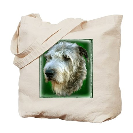 Irish Wolfhound Head Study Tote Bag