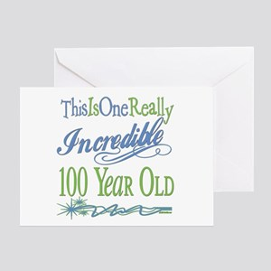 Incredible 100th Greeting Card