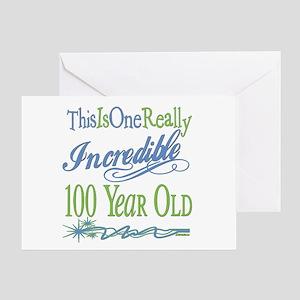 Incredible 100th Greeting Card