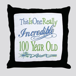 Incredible 100th Throw Pillow